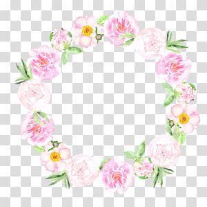 Convite de casamento Aquarela: Pintura em aquarela de flores, aquarela pintada à mão, ilustração de flores cor de rosa png