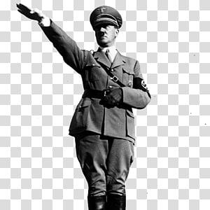 Estados Unidos Alemanha nazista Saudação nazista Partido nazista, Adolf Hitler, escala de cinza de Adolf Hilter png