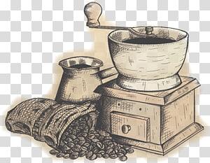 Cafeteira Cafe Caffxe8 mocha pote Moka, moinho de café manual png