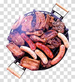 carne grelhada, linguiça, costela e frango, cachorro-quente gordura saturada Alimentos Açúcar, Panela no churrasco PNG clipart