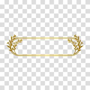 Linha de ouro, borda de linha de ouro, moldura floral oblonga png