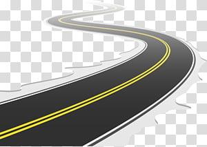 ilustração de estrada preta, estrada rodovia, estrada rodovia png