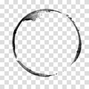 Pincel de tinta, círculo de tinta simples PNG clipart