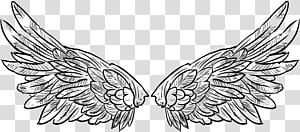 Asa Artes visuais Preto e branco, Asas de tatuagem para voar nos braços PNG clipart