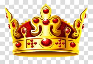 Coroa do estado alemão, coroa de ouro e vermelho, ilustração de coroa marrom e vermelha PNG clipart