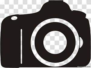 ilustração da câmera preta, SLR digital do logotipo da câmera, câmera de vídeo PNG clipart