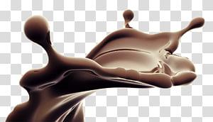 ilustração de respingo de chocolate, suco de bolo de chocolate leite chocolate quente, salpicos de chocolate líquido PNG clipart