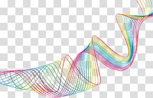 espiral multicolorida, abstração de curva de geometria de linha, linhas de curva geométrica abstrata colorida PNG clipart