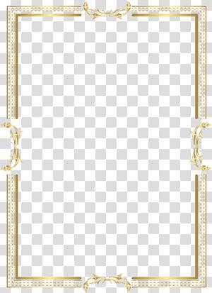 Padrão de área amarela, moldura de borda dourada, captura de tela de borda dourada PNG clipart