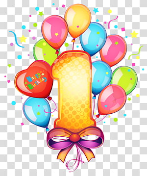 Bolo de aniversário, 1 aniversário, feliz primeiro aniversário png