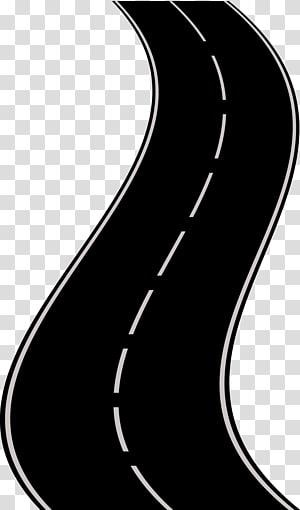 ilustração de estrada de asfalto, estrada rodovia animação, estrada rodovia png