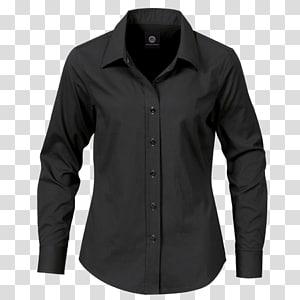 camisa de vestido preta, camisa de vestido camiseta, camisa de vestido preta PNG clipart