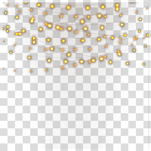 Luz amarela Nightscape ícone, luzes amarelas da noite, ilustração de luzes da corda PNG clipart