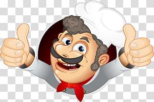 Ilustração de chef, Chef Cooking Illustration, Chef pintado à mão png