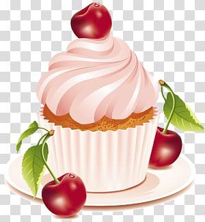 Bolo de aniversário Bolo de casamento Cupcake Bolo de chocolate, Bolo de cereja, pintura de cupcake png