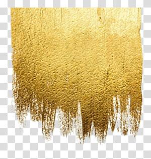 Tinta acrílica Arte abstrata ilustração, tinta dourada para parede, têxtil marrom png