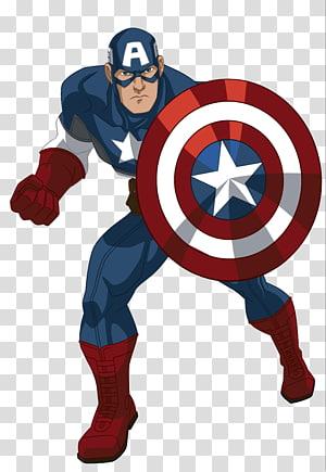 Ilustração do Capitão América, Capitão América Homem de Ferro Hulk Thor Cartoon, Capitão América png
