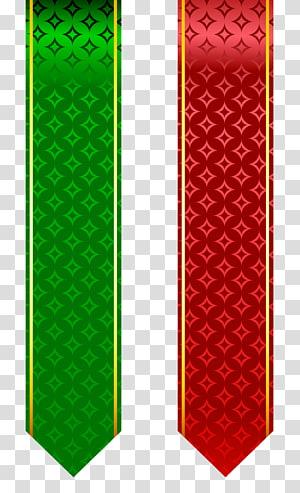 Conjunto de bandas vermelha e verde, dois carrinhos de grampo de fita verde e vermelha png