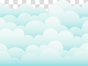 Céu nuvem desenho azul, nuvens adoráveis, nuvens brancas e verdes PNG clipart