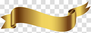 fita bege, banner, banner de ouro PNG clipart