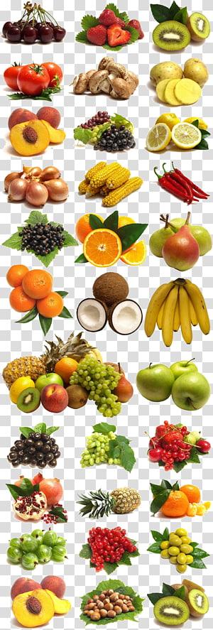Uma grande coleção de frutas e legumes, lotes variados de legumes PNG clipart