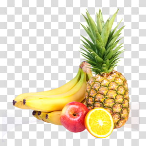 Frutas Alimentos orgânicos, frutas, bananas, maçã, laranja e abacaxi PNG clipart