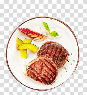 Churrasco Carne assada Bife Bife do lombo Decore, material de churrasco de prato fresco PNG clipart
