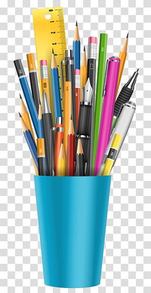 Lápis, lápis, canetas sortidas PNG clipart