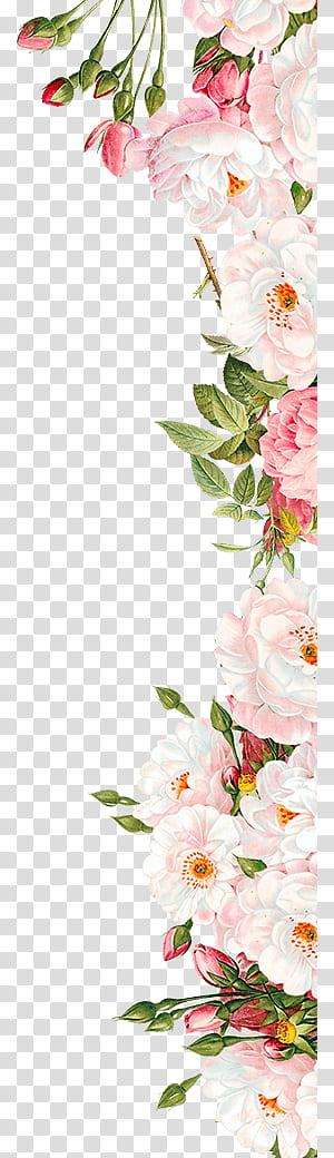 Flores cor de rosa Convite de casamento, Flores cor de rosa, arranjo de flores rosa e branco PNG clipart