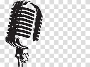 Microfone, fundo de microfone, esboço de microfone condensador png