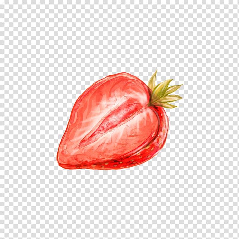 Ilustração de morango, Pintura em Aquarela Desenho Morango, Split morango png