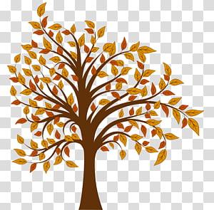 ilustração de árvore multicolorida, outono árvore, árvore de outono PNG clipart