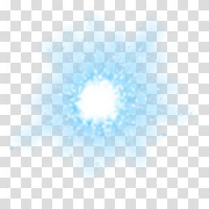 Efeito de luz mágica de meteoros, luz azul png