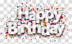 Confetes de aniversário de papel, feliz aniversário, feliz aniversário png