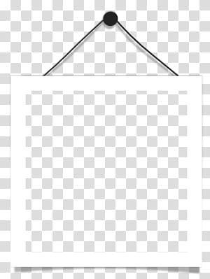 Preto e branco ângulo de ponto, quadro de suspensão, quadrado branco quadro de suspensão em close-up png