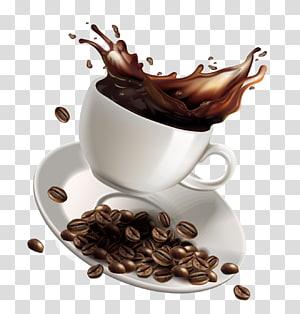 pires e xícara de café definir ilustração], café branco café instantâneo café, respingo de café dos desenhos animados png