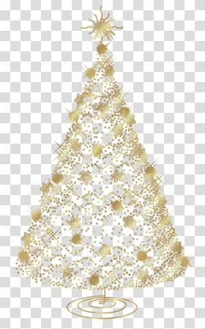 Natal, árvore de ouro de Natal, ilustração de árvore de Natal de ouro contra o fundo azul PNG clipart
