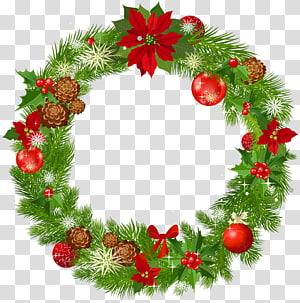 Decoração de Natal grinalda, guirlanda de Natal grande Deco, ilustração de grinalda de Natal PNG clipart