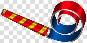 Gráficos escaláveis de festa chifre, festa de aniversário apito, ilustração de chifre de festa vermelho e azul PNG clipart