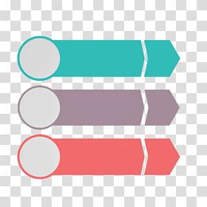 Ícone da apresentação do Microsoft PowerPoint, padrão decorativo PPT de seta circular e retangular, gráfico de três flechas PNG clipart