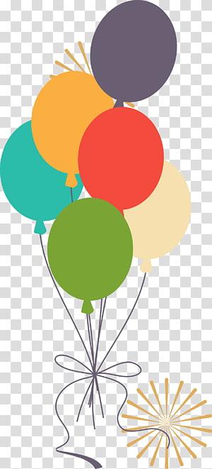 ilustração de balões de cores sortidas, ilustração de balão, ilustração de balões coloridos PNG clipart