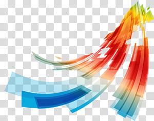 Linha Euclidiana de curvas, linhas de curvas geométricas abstratas coloridas, pintura abstrata azul, verde, vermelha, laranja e amarela PNG clipart