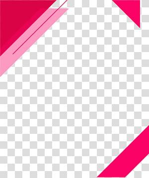 borda rosa, triângulo Rosa arquivo de computador, borda de triângulo PNG clipart
