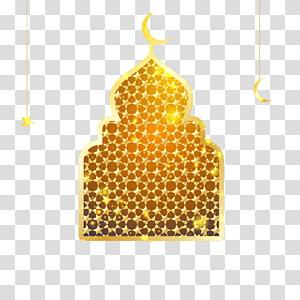 ilustração da mesquita de ouro, Ramadan Eid al-Fitr Mesquita Eid al-Adha, janelas islâmicas png