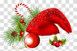 Decoração de natal Enfeite de natal, chapéu de Papai Noel de Natal e enfeites de decoração, chapéu com tema de Natal PNG clipart
