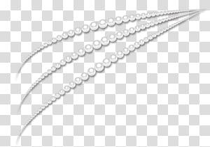 três linhas de pérolas, ícone de colar de pérolas, colar de jóias pintadas à mão criativa, colar de pérolas png