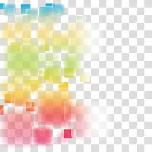Abstração euclidiana, material de fundo abstrato elegância fantástica, multicolorida PNG clipart
