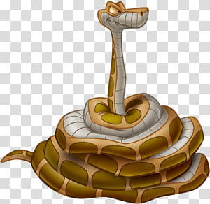 personagem de cobra marrom e branca, Kaa O Livro da Selva Bagheera Shere Khan Mowgli, o livro da selva PNG clipart