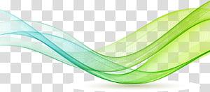 fita, linhas coloridas, linhas onduladas verdes e azul-petróleo PNG clipart