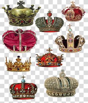 ilustração de coroas sortidas, Crown Concepteur, coleção Crown PNG clipart
